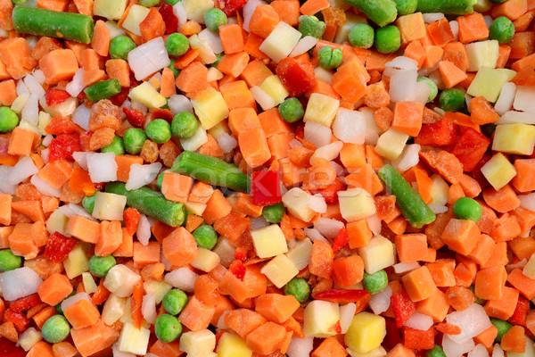 Congelada vegetal comida textura Foto stock © tony4urban
