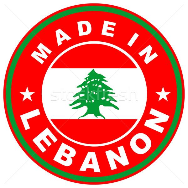 Lübnan büyük boyut ülke etiket imzalamak Stok fotoğraf © tony4urban