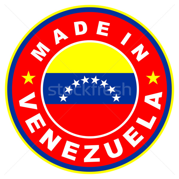 Venezuela nagy méret címke zászló vidék Stock fotó © tony4urban