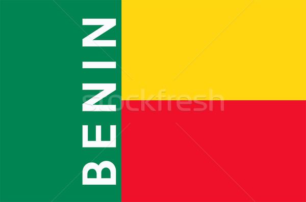 Bandiera Benin grande dimensioni illustrazione paese Foto d'archivio © tony4urban