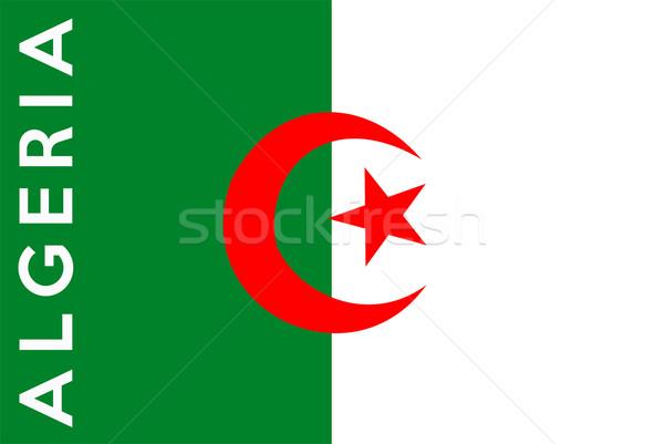 Bandeira Argélia grande tamanho ilustração país Foto stock © tony4urban