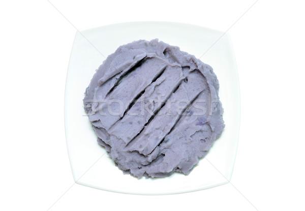 purple mashed potato on white Stock photo © tony4urban