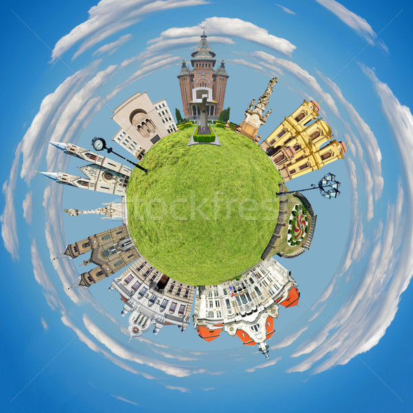 timisoara tiny planet Stock photo © tony4urban