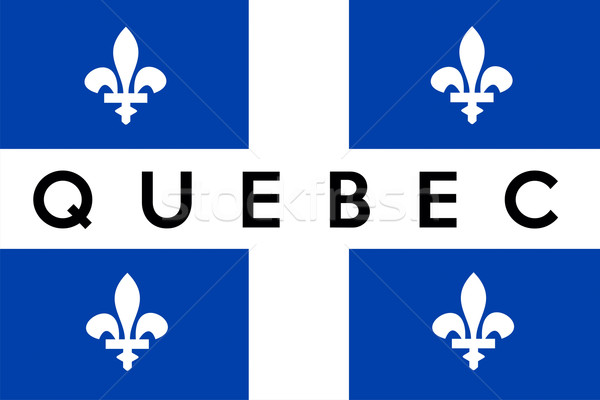 Quebec vlag groot maat illustratie Stockfoto © tony4urban