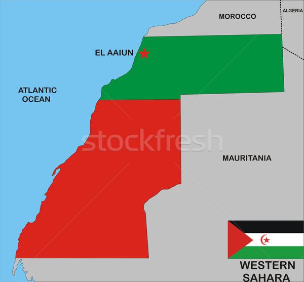 Batı sahara harita ülke Stok fotoğraf © tony4urban