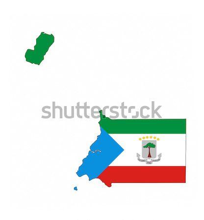 Guinea Ecuatorial país bandera mapa forma texto Foto stock © tony4urban