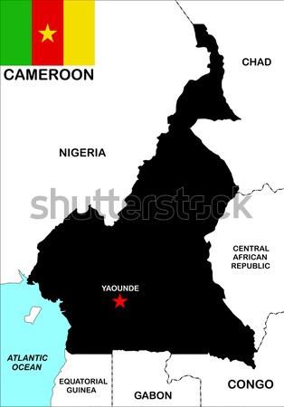 Cameroun gay carte pays fierté pavillon Photo stock © tony4urban