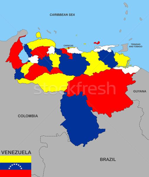 venezuela map Stock photo © tony4urban