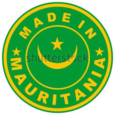 Pakistan groot maat land label teken Stockfoto © tony4urban
