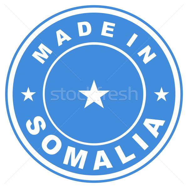 Сомали большой размер Label флаг стране Сток-фото © tony4urban