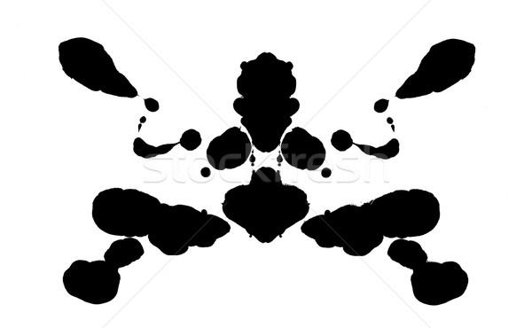 Corpo forma abstrata conselho hospital cérebro silhueta Foto stock © tony4urban