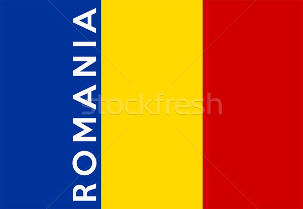 Vlag Roemenië groot maat illustratie land Stockfoto © tony4urban