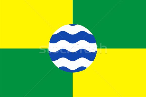 Zászló nagy méret város illusztráció Stock fotó © tony4urban