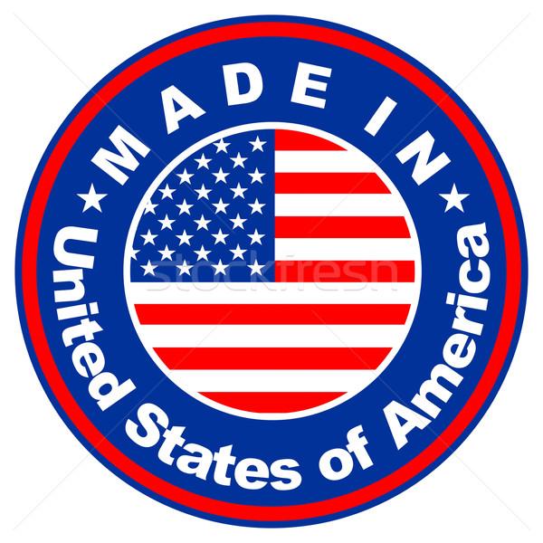 EUA grande tamanho Estados Unidos américa etiqueta Foto stock © tony4urban