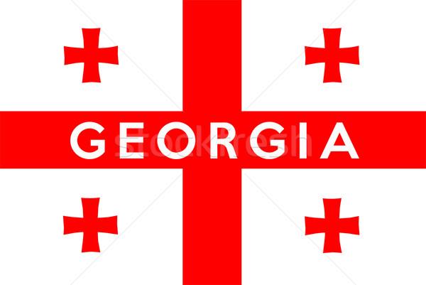 флаг Грузия большой размер иллюстрация стране Сток-фото © tony4urban