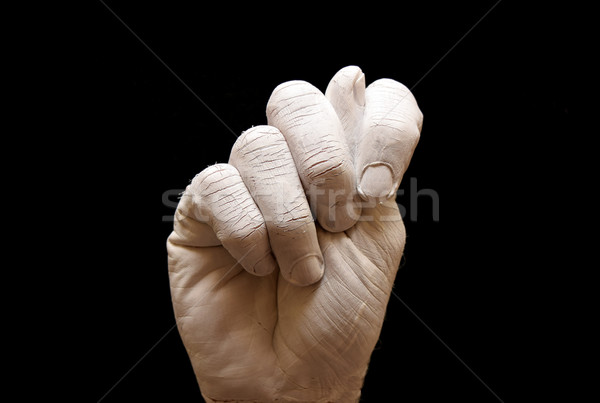 Letra t linguagem gestual americano alfabeto mãos pintado Foto stock © tony4urban