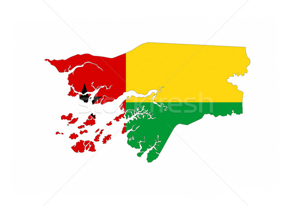 guinea bissau flag map Stock photo © tony4urban