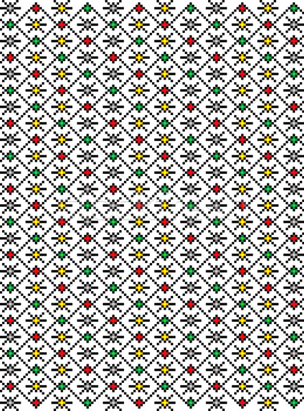 Rumuński popularny wzór region motywy kraju Zdjęcia stock © tony4urban