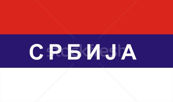 flag of Serbia Stock photo © tony4urban