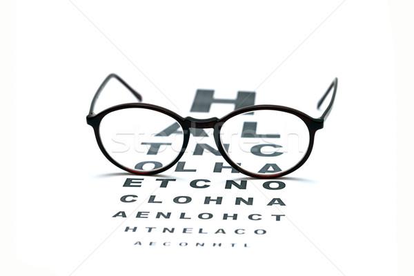 眼鏡 眼 グラフ 視力検査 孤立した 白 ストックフォト © tony4urban
