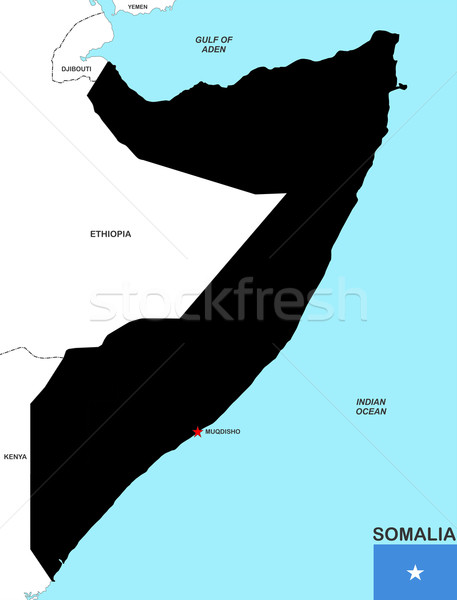 Somalie carte grand taille noir pavillon Photo stock © tony4urban