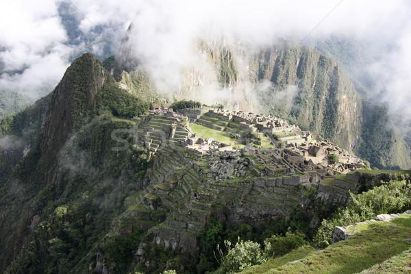 Machu Picchu görmek kayıp şehir dağ seyahat Stok fotoğraf © tony4urban