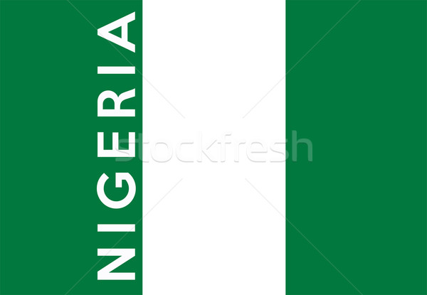 Bandeira Nigéria grande tamanho ilustração país Foto stock © tony4urban