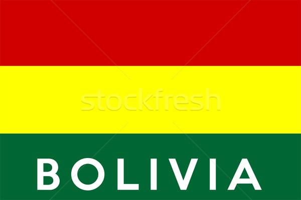 Stock fotó: Zászló · Bolívia · nagy · méret · illusztráció · vidék