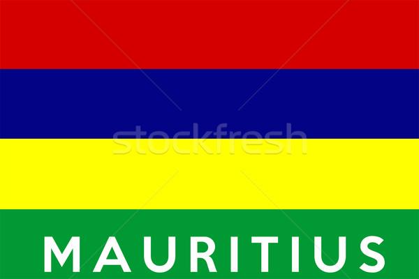 флаг Маврикий большой размер иллюстрация стране Сток-фото © tony4urban