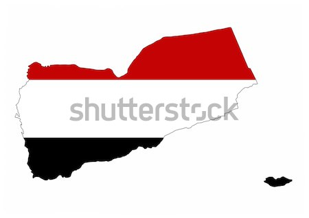 Jemen vlag kaart land vorm Stockfoto © tony4urban