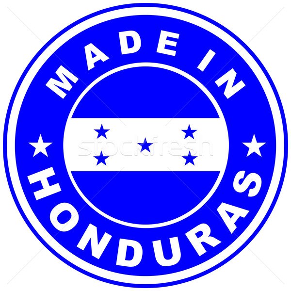Honduras grand taille pays étiquette signe Photo stock © tony4urban