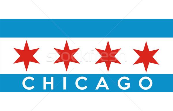 Chicago zászló nagy méret amerikai város Stock fotó © tony4urban