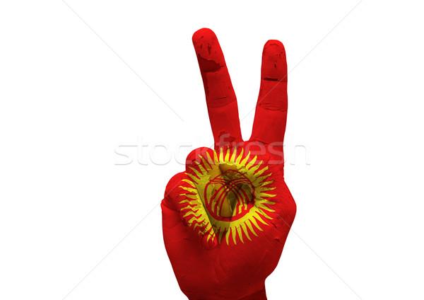 Kéz készít felirat grunge festett izolált Stock fotó © tony4urban