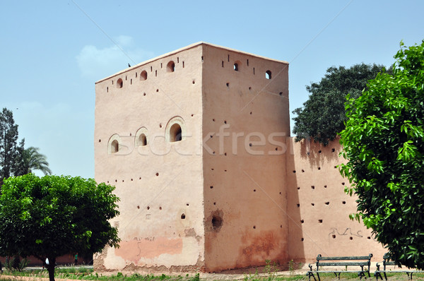 marrakech defensive walls Stock photo © tony4urban
