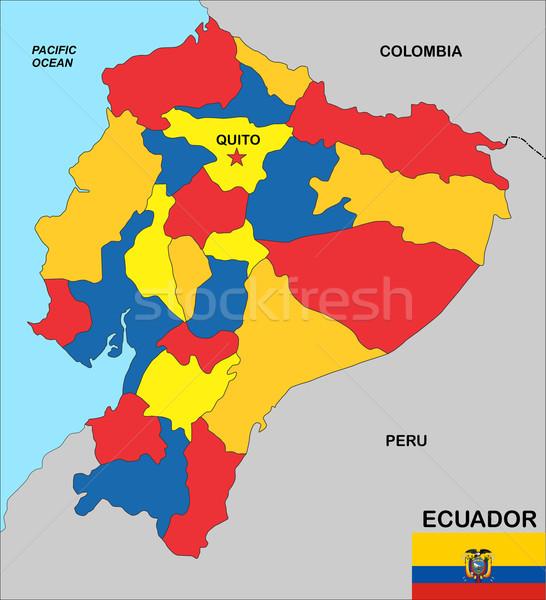 ecuador map Stock photo © tony4urban