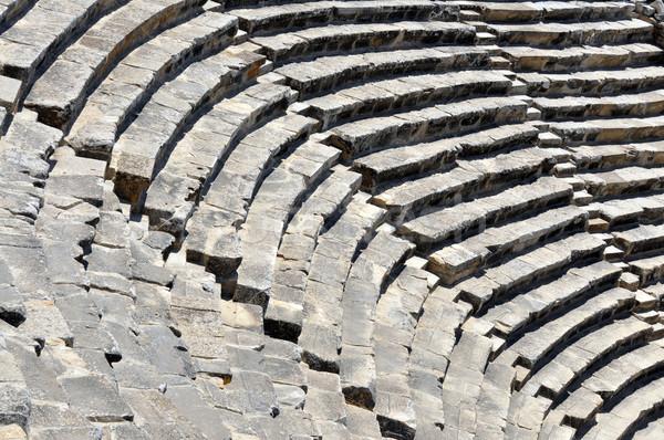 Anfiteatro pormenor antigo cidade arquitetura arruinar Foto stock © tony4urban