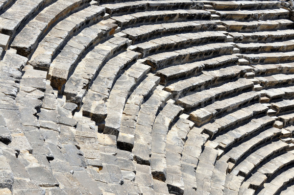 Amfitiyatro detay eski şehir mimari harabe Stok fotoğraf © tony4urban