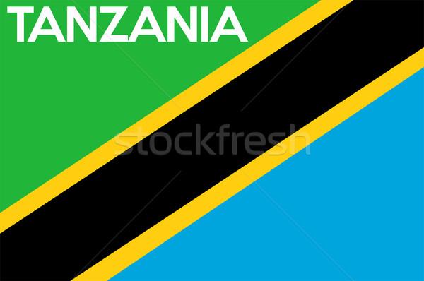 флаг Танзания большой размер иллюстрация стране Сток-фото © tony4urban