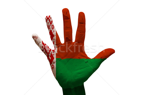palm flag belarus Stock photo © tony4urban