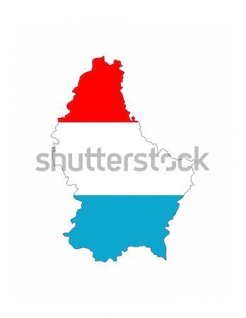 Luxemburgo bandera mapa país forma Foto stock © tony4urban
