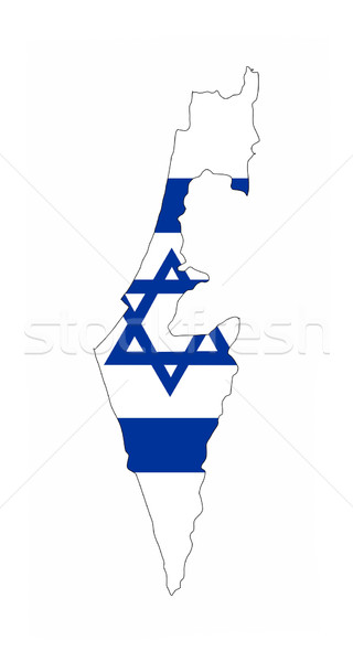 Israel Flagge Karte Land Form Stock foto © tony4urban