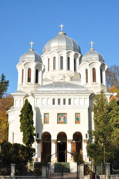 Ortodox templom város Romania tájékozódási pont építészet Stock fotó © tony4urban