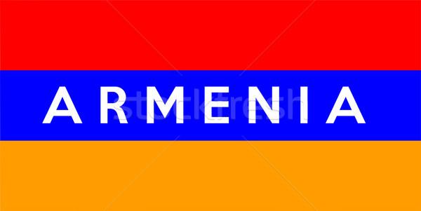 フラグ アルメニア ビッグ サイズ 実例 国 ストックフォト © tony4urban