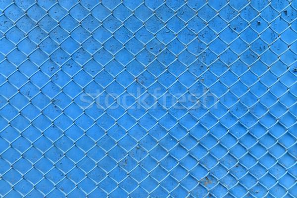 Azul cerca neto metal textura Foto stock © tony4urban