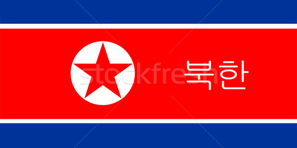 Bandera norte grande tamaño ilustración país Foto stock © tony4urban