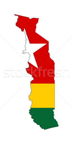 Togo vlag kaart land vorm Stockfoto © tony4urban