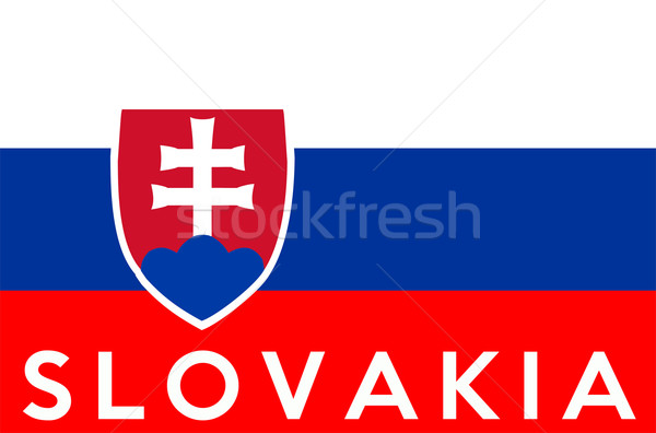 Bandeira Eslováquia grande tamanho ilustração país Foto stock © tony4urban