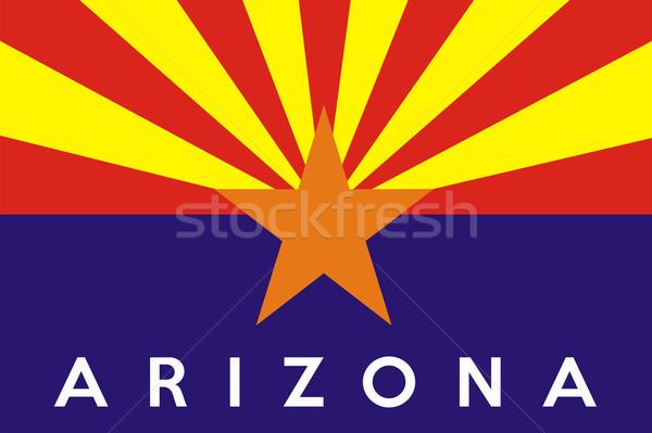 Arizona bandera grande ilustración EUA banner Foto stock © tony4urban