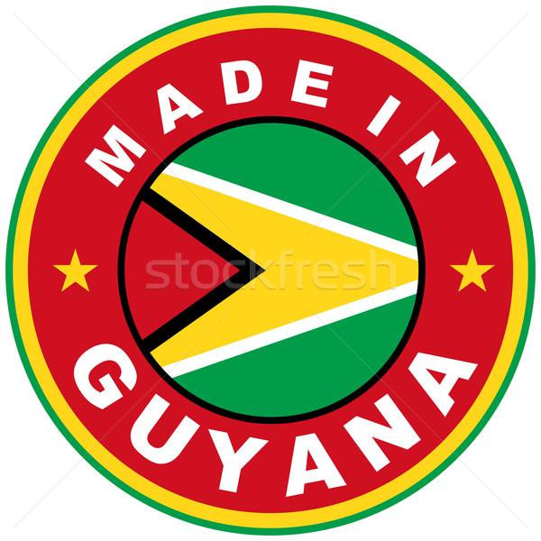 Guyana nagy méret vidék címke felirat Stock fotó © tony4urban