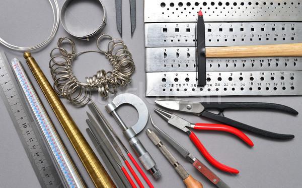 ювелир инструменты ювелирные месте текстуры Сток-фото © tony4urban